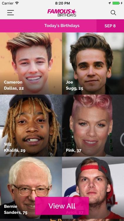 Famous Birthdays screenshot-0