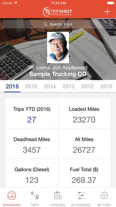 Trip Sheet Central Screenshot on iOS