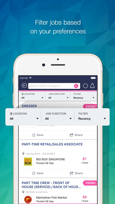 Screenshot for FastJobs SG - Get Jobs Fast in Singapore App Store