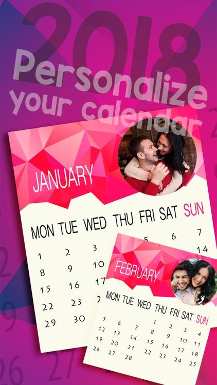 New Year Photo Calendar 2018