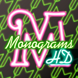Neon Monogram HD FREE - Designer Wallpaper, Icon Skin Monograms and Customized Backgrounds