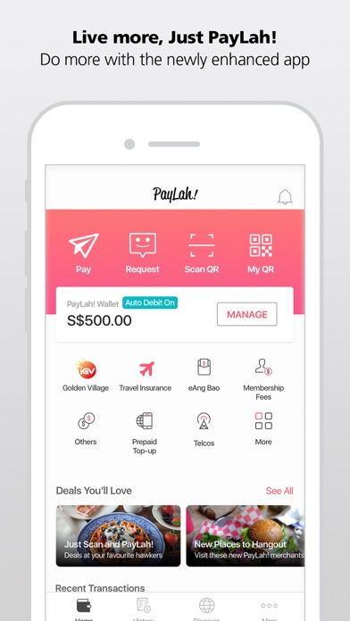 Screenshot for DBS PayLah! - Supports PayNow in Singapore App Store