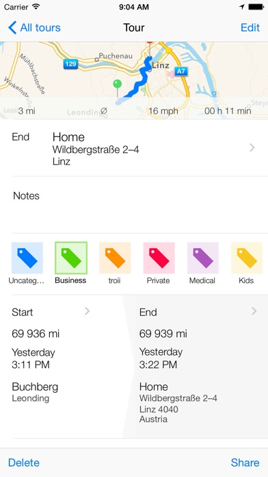 tour automatic mileage log by troii software gmbh ios united