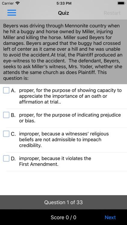 Evidence: Supreme Bar Review screenshot-4