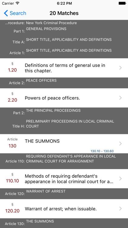 New York Code of Criminal Procedure (LawStack Ser) screenshot-4
