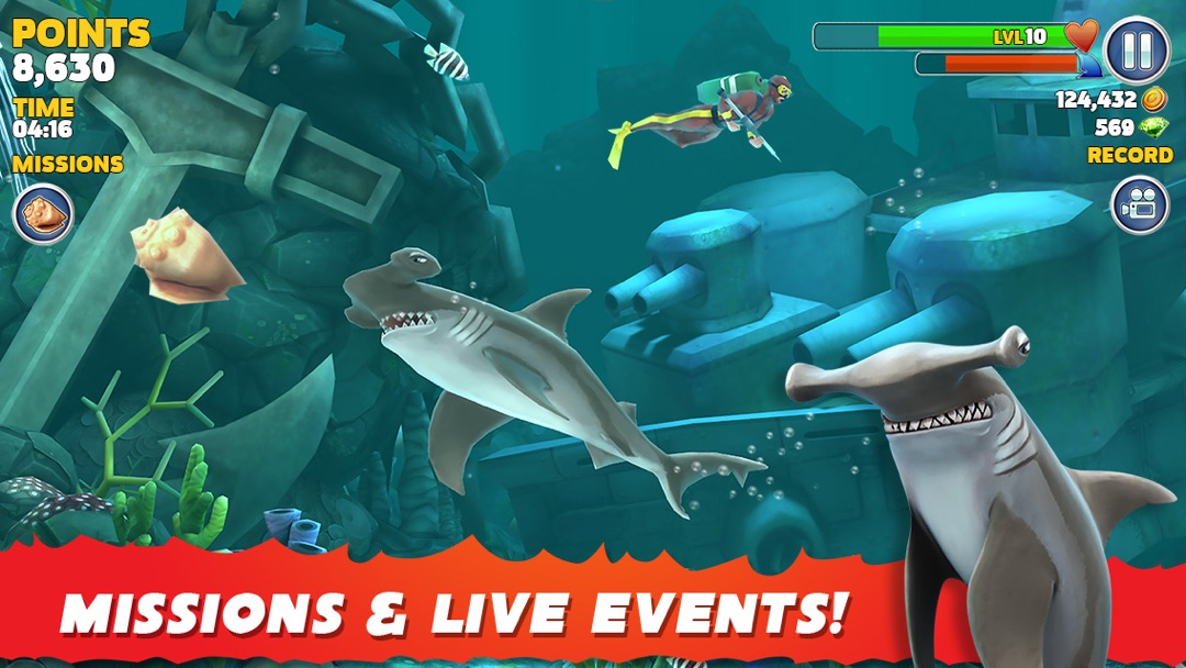 3 Minutes to Hack Hungry Shark Evolution - Unlimited