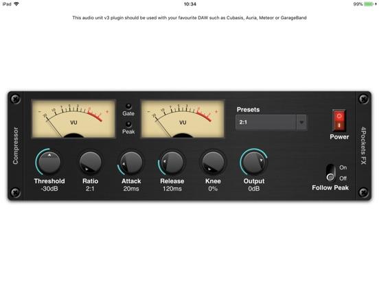 Audio Compressor AUv3 Plugin screenshot 3