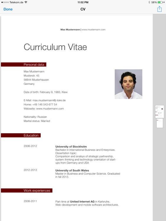 CV Designer HD screenshot-3