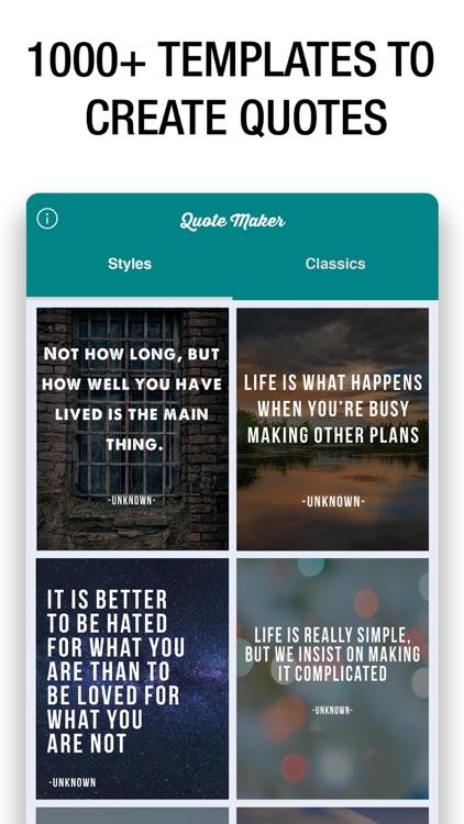 Quote Maker- Quote Creator screenshot-0