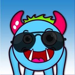 Blue Monster Animated Stickers