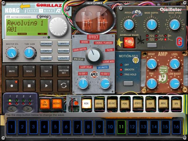 iELECTRIBE Gorillaz Edition Screenshot
