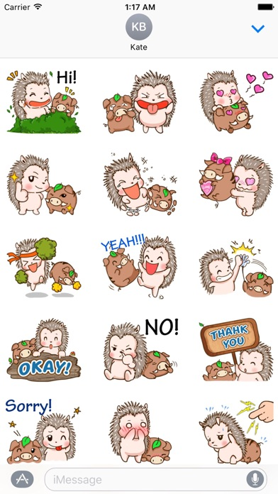 Hedgehog And Wild Hog Sticker screenshot 1