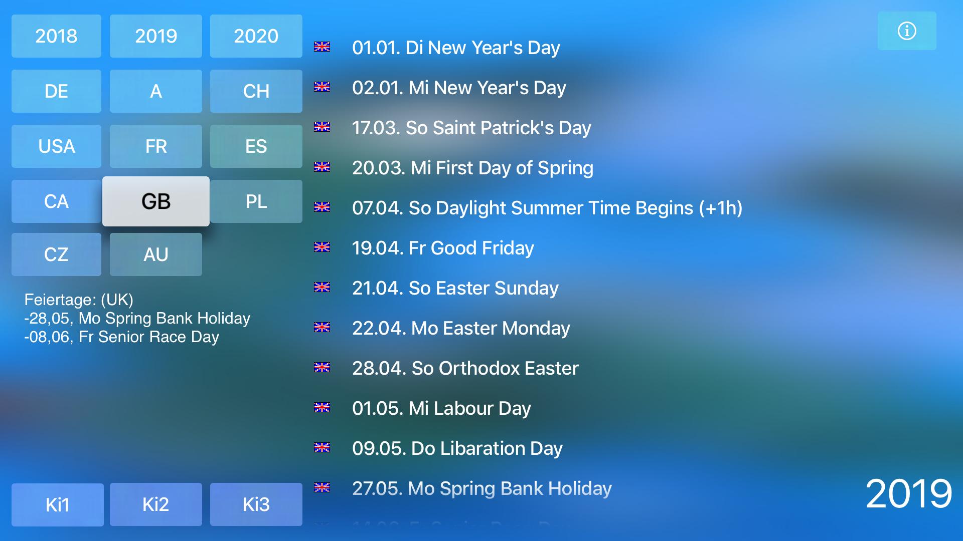 Holidays for TV screenshot 8