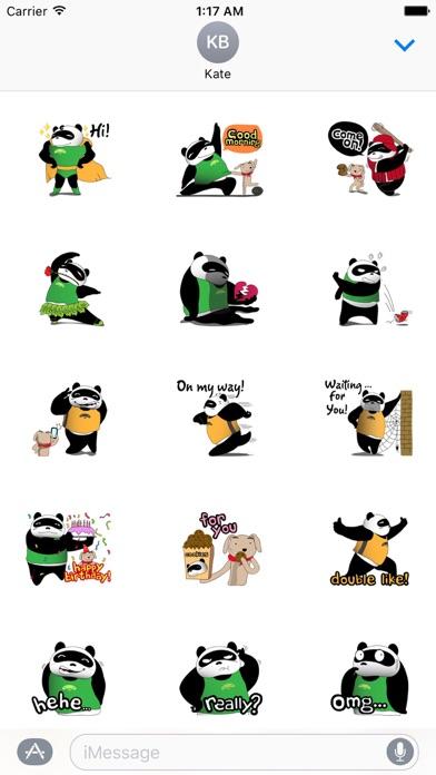 Funny Chubby Panda Sticker screenshot 1