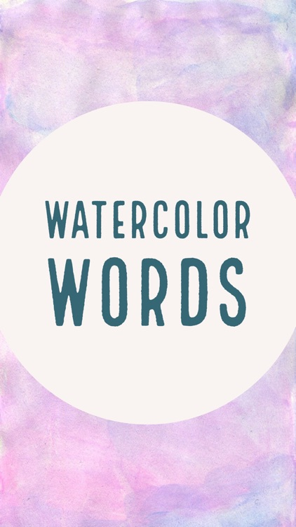 Watercolor Words Stickers