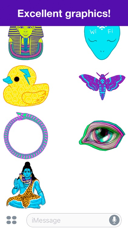 Psychedelic stickers screenshot-3