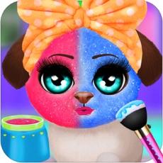 Activities of Pet Puppy Make Up Salon Game