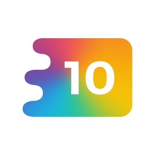 10 - 頭が良くなるフリックパズルゲーム