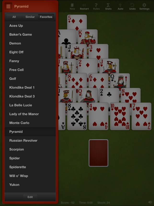 Eight off solitaire rules