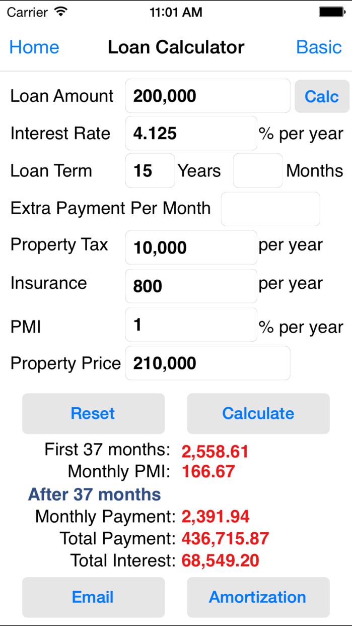 EZ Financial Calculators Screenshot
