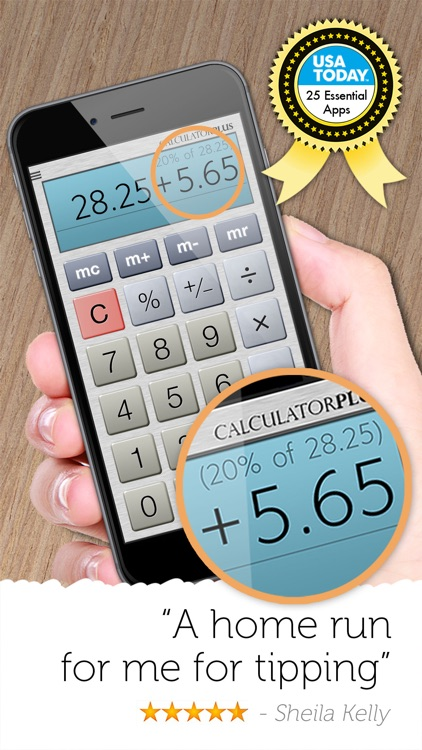 Calculator Plus #1 Tip, % + HD