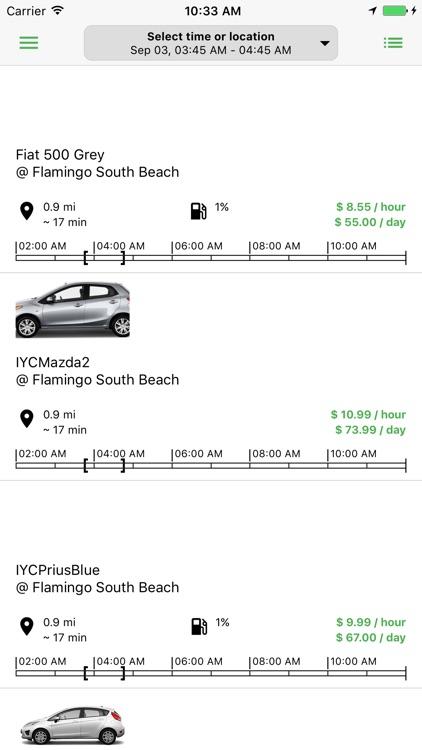 Cars by Hour Car Sharing screenshot-3