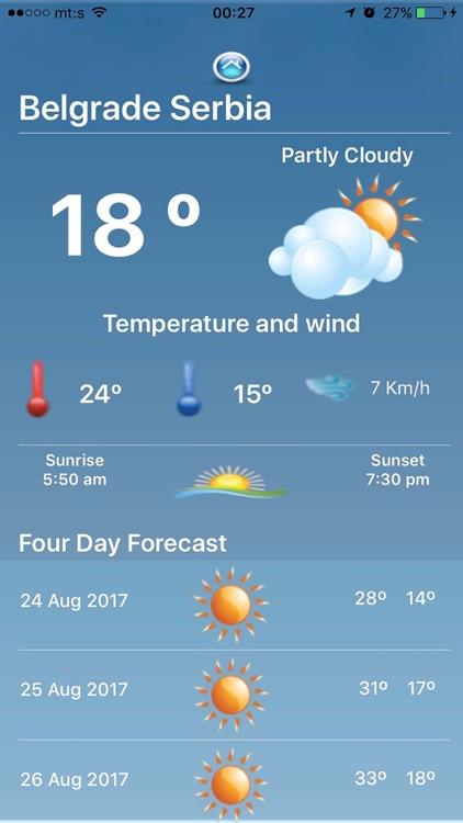 Simple Weather Forecast App