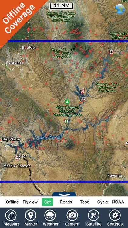 Lake Powell GPS Fishing Charts screenshot-4