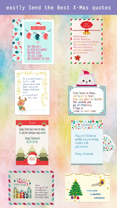 Christmas Letter with Message screenshot 3