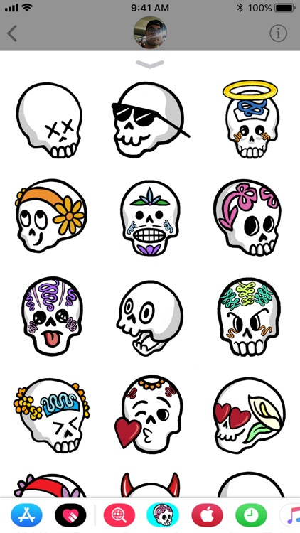 Sugar Skull Stickers Vol.1 screenshot-3