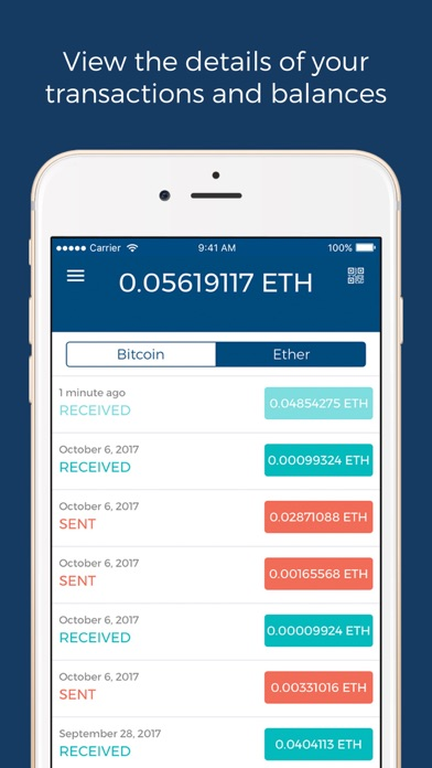 Blockchain - Bitcoin Wallet Screenshot