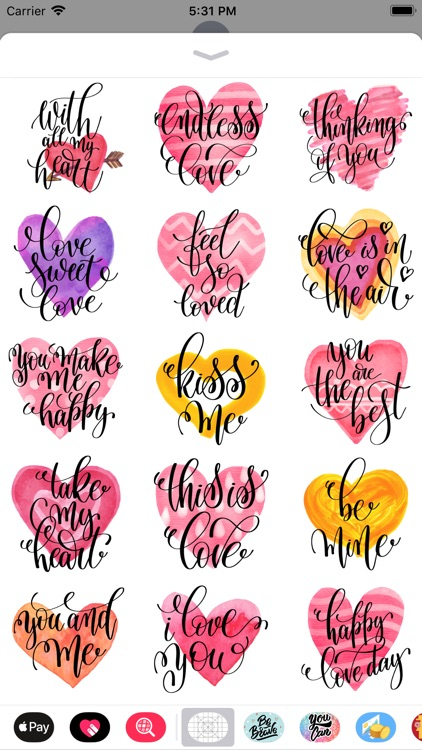 Animated Valentine's Stickers