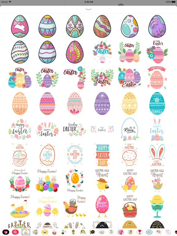Hand Drawn Easter Day Stickers screenshot 9