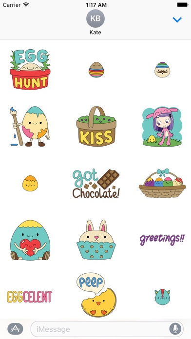 Happy Easter Colorful Sticker screenshot 2