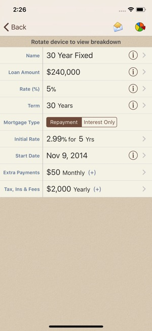 loan calculator yearly payments