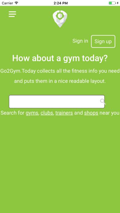 Go2Gym screenshot one