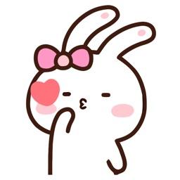 Jolly Rabbit Animated Emoji Stickers