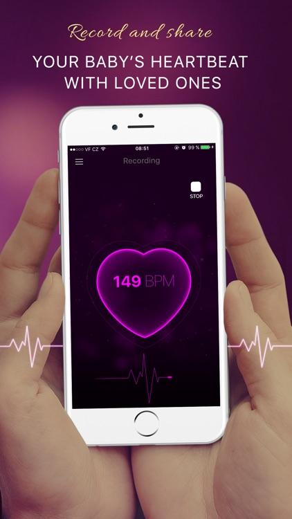 Baby Heartbeat Monitor: Fetal Heart Beat Doppler app image