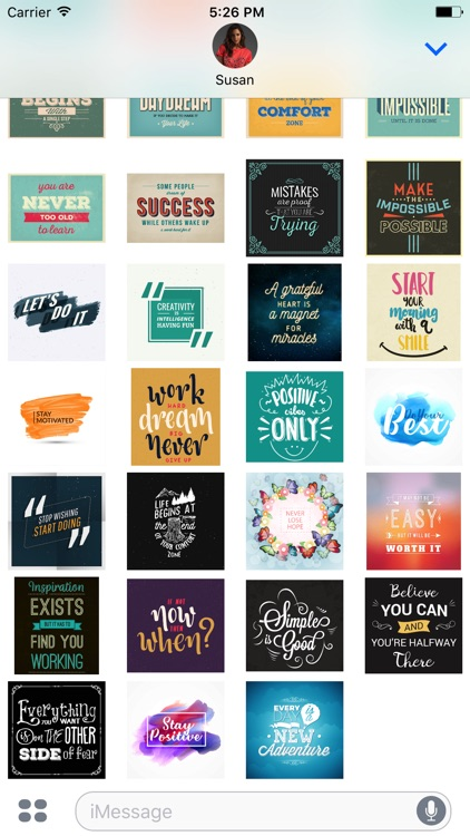 Motivational Stickers for iMessage Chat Emojis screenshot-3