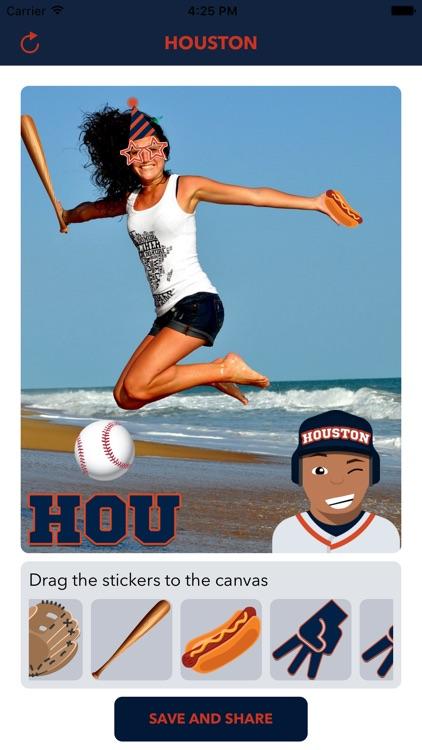 Houston Baseball Emojis & Stickers