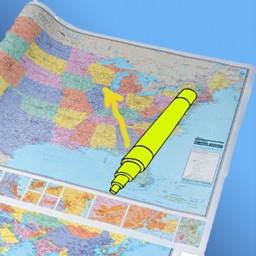 Paper Map with markers for iPhone