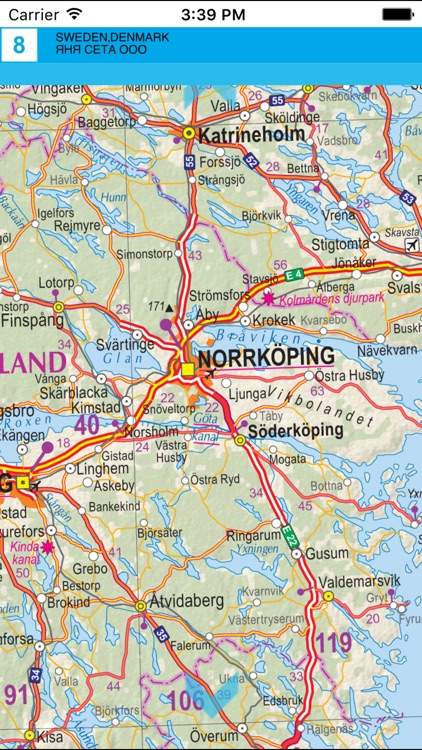 Sweden,Denmark. Road map screenshot-3