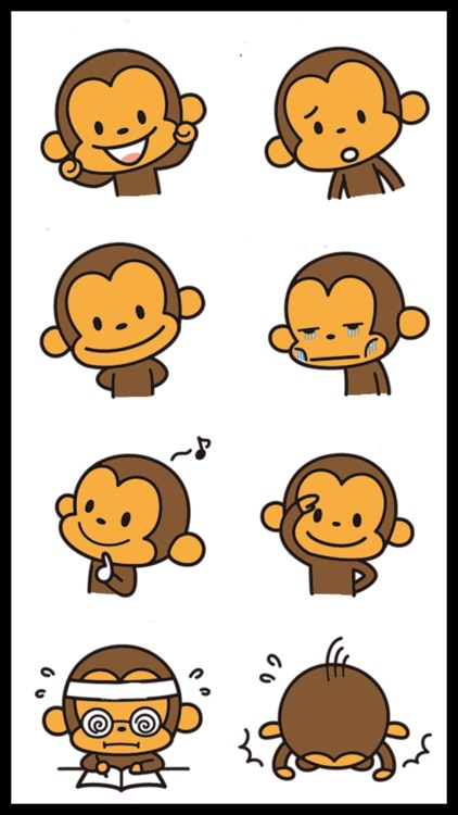 Best Funny Monkey Stickers screenshot-3