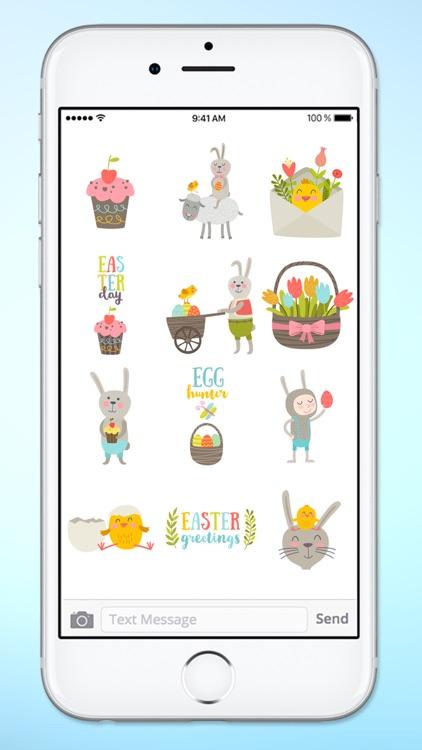 Super Cute Easter Sticker Pack screenshot-3