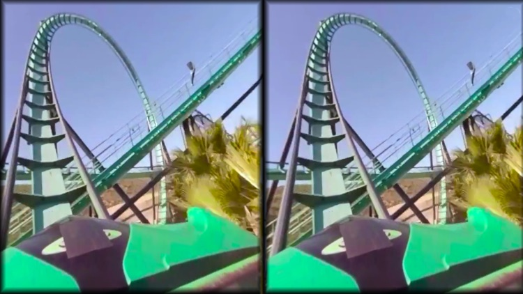 VR Thrills: Roller Coaster 360 (Google Cardboard) screenshot-2