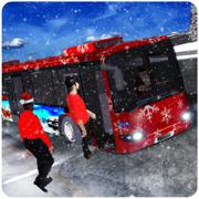 圣诞晚会巴士模拟3 d 旅游滑雪胜地