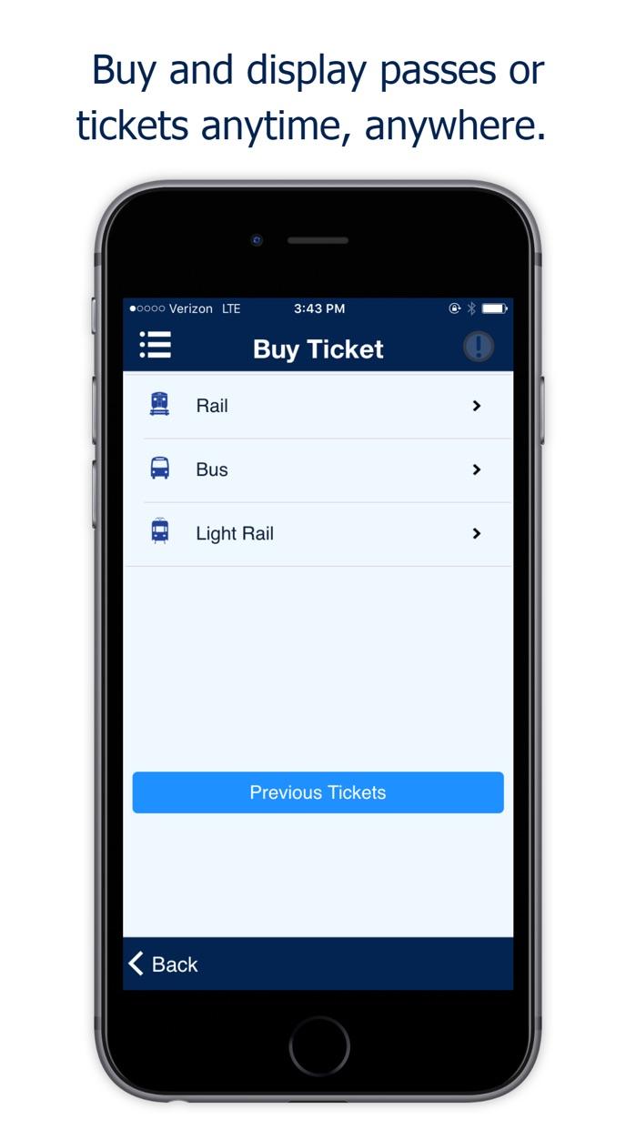 NJ TRANSIT Mobile App Screenshot