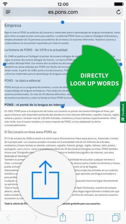 Dictionary German - Spanish SCHOOL by PONS screenshot-3