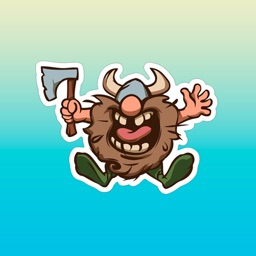 Funny Barbarian Stickers