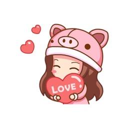 Lovely Girl Stickers